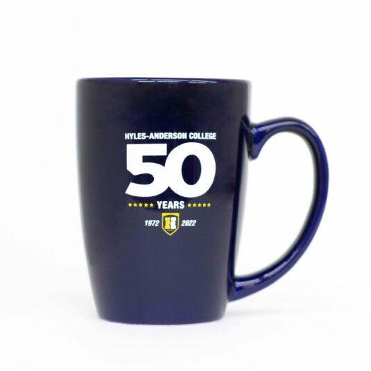 blue HAC 50th Anniversary mug